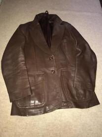 Authentic vintage 1960/70s men's leather jacket