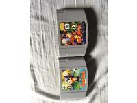 Banjo kazooie and diddy Kong racing n64 games