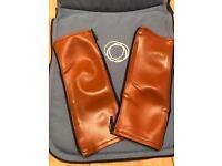 Bugaboo leather tan handle bar covers £10