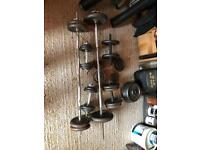 Collection of weights and bars