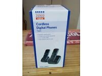 A BRAND NEW TWIN DIGITAL CORDLESS PHONES