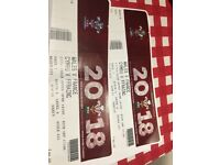 Wales v France rugby tickets x 2