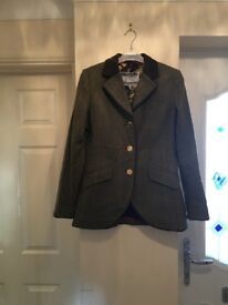 Joules Green Tweed Jacket, size 12