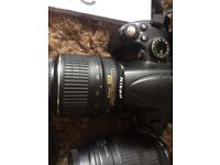 Nikon D5000, 2 Lenses, Lowepro Camera Bag and Jessops Cleaning Kit