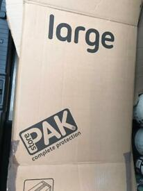 9 large packing boxes cardboard
