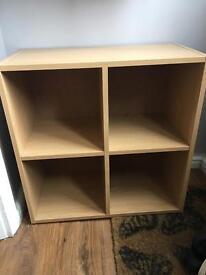 Ikea pine 4 cube box