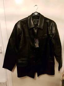 Brand new leather type jacket l/xl
