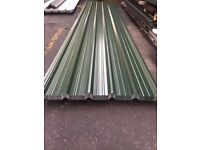 Box Profile Roofing Sheets, Juniper green polyester x .5mm x 1 meter cover