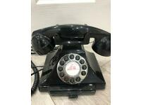 Black Retro style landline telephone