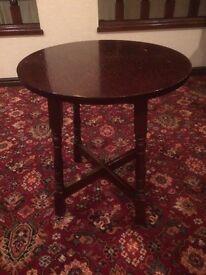 7 Dark Wood Round Bar Tables