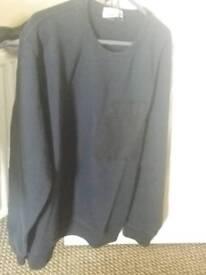 bnwt stone island garment dyed crewneck sweatshirt with pocket,in navy,2xl