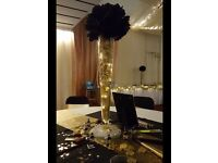 Tall Glass Vases £65