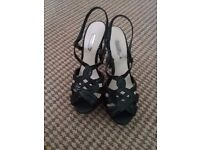 Dorothy Perkins black snakeskin strappy heels size 5. Brand new with labels still on. Never worn
