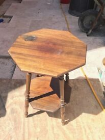 Octagonal occasional table.