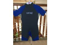 2 Tiki Junior shortie wetsuits age approx for a 6 and 8 year old