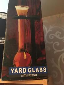 Yard glass new in box
