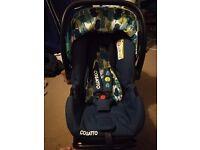 Cosatto car seat and base