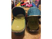 Sweet pea seat and carry cot with out windows