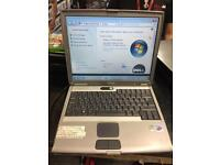 Dell Latitude D500 Intel Pentium M 1.3Ghz CPU 1GB RAM 40GB HDD Windows 7 Laptop