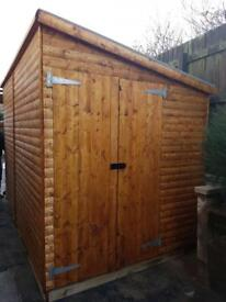 8x6 LEAN TO PENT £464.00 HEAVY DUTY T&G (FREE DELIVERY AND INSTALLATION)