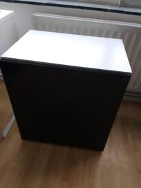 Ikea Besta Cabinet On Legs With Black High Gloss Door For Kitchen,Living Room,Office Etc.