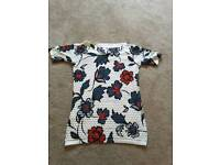 NEXT floral work party top size 6