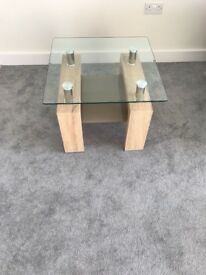 Brand New Nexus Glass/Solid Wood Table (Could be used as a Lamp or Coffee Table)