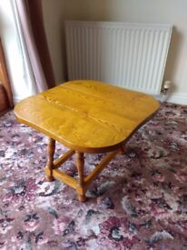 Beech side table (1990's Cryer Craft)