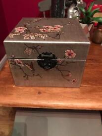 Bird Print Silver/Grey Storage Box