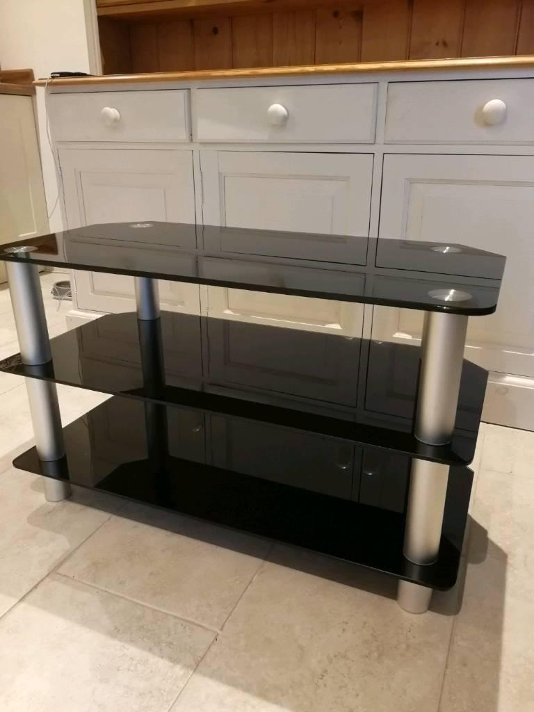 3 Tiered Black Glass Tv Stand In Chudleigh Devon Gumtree
