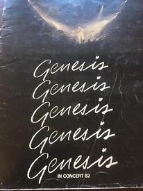 Genesis abacab duke etc 3 sided live tour program