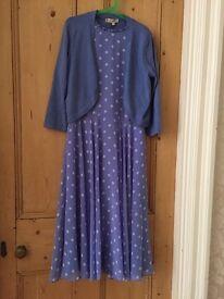 Hobbs summer dress and bolero cardigan
