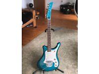 Yamaha SGV 800 Blue Sparkle electric guitar.