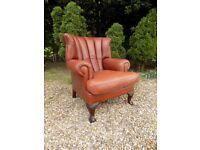 Beautiful John Lewis Tetrad Blake Brown Leather Armchair