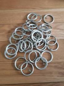 Metal curtains rings