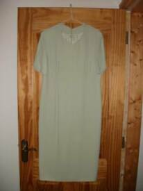 Pale green mother-of-the-bride 'Mansfield of London' outfit.Size 12.