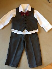 Charcoal grey wedding suit Age 6-12 months