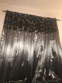 Curtain and fittings .
