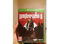 Wolfenstein 2 new/sealed xbox one