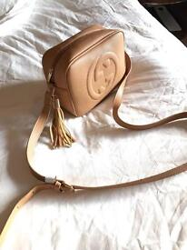 Designer stunning taupe color perfect compact sling bag