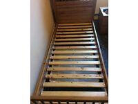 Single wood ikea bed