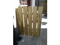 New wooden garden gate