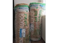 loft insulation, 2 rolls of 200mm thick earth wool