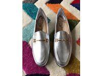 Sam Edelman Loraine Silver Loafers UK5.5/US8