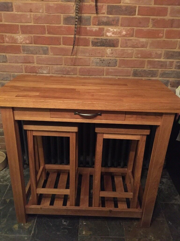 new style fa62b 71a36 Laura Ashley brompton breakfast bar with stools Solid Oak | in Framlingham,  Suffolk | Gumtree