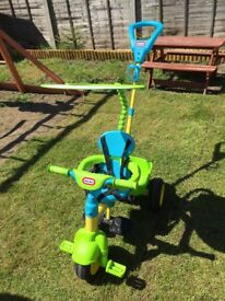 Little Tikes 4 in 1 blue, yellow and green Trike