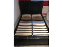 Faux leather Double bed, immaculate condition was £700 new