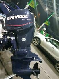 Evinrude 90 etec tec 2006 with 2 hours use