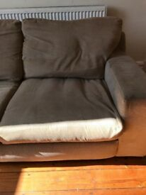 Sofa and foot stool, very comfy, £75 ono. Collection only.