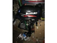 Suzuki 2.5hp outboard never been used excellent condition